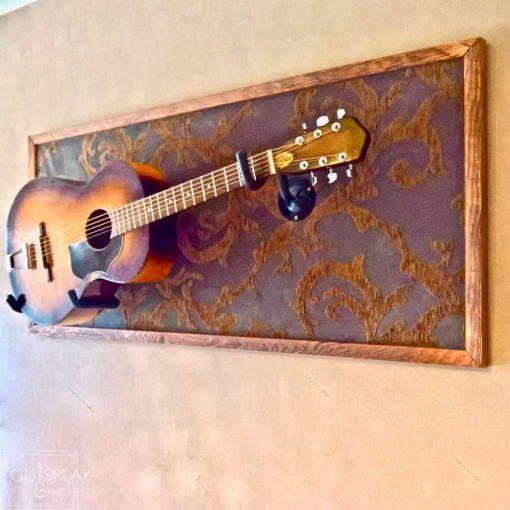 Guisplay Horizontal Wall Hanger Guitar Display Stand Acoustic 3(watermarked)