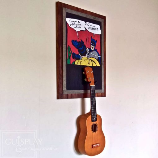 Guisplay Batman meme Support Ukulele Display and Wall Art Framed Creation4(watermarked)