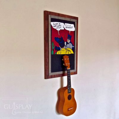 Guisplay Batman meme Support Ukulele Display and Wall Art Framed Creation6(watermarked)