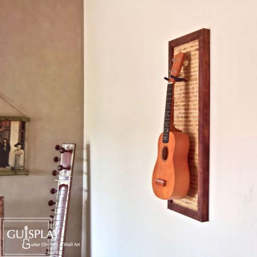 Guisplay Tiki 1 Support Ukulele Display and Wall Art Framed Creation2(watermarked)