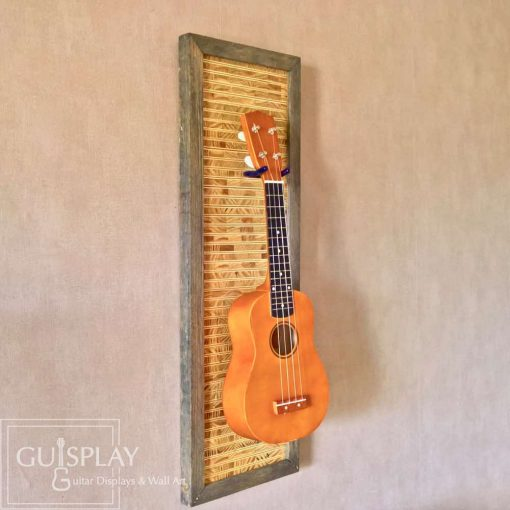 Guisplay Tiki 3 Support Ukulele Display and Wall Art Framed Creation3(watermarked)