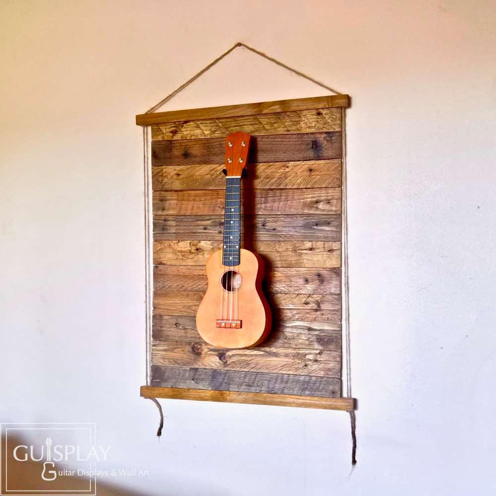 Tiki Hanalei Ukulele Display Wall Hanger Guisplay