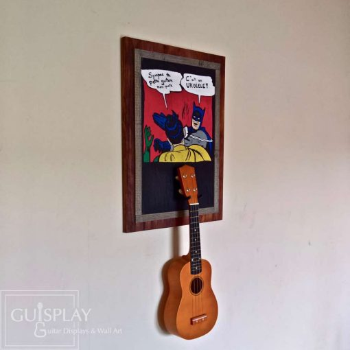 Guisplay Batman meme Support Ukulele Display and Wall Art Framed Creation7(watermarked)