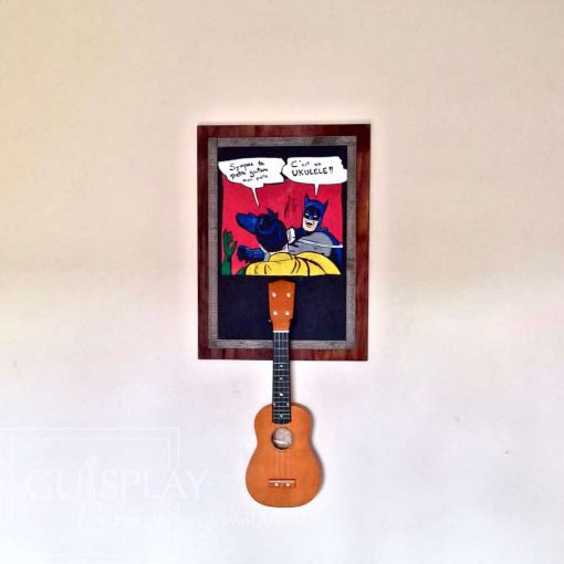 Guisplay Batman meme Support Ukulele Display and Wall Art Framed Creation8(watermarked)